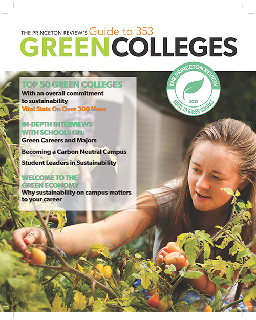Princeton Review Guide to Gren Colleges 2015 cover