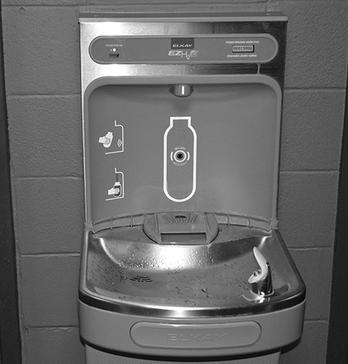 A hydration station at the University of Arkansas