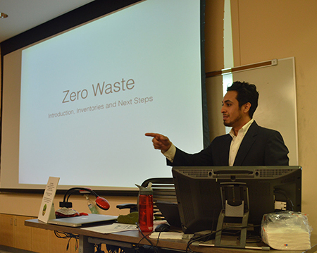 Carlos Ochoa presents at the 2014 Zero Waste Summit