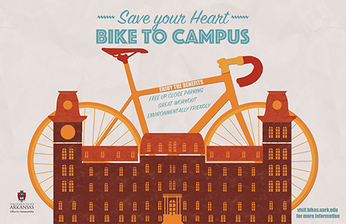 bike to campus poster